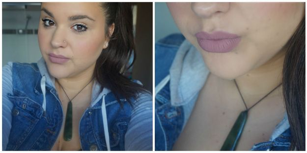 Dose of colors Stone swatch favourite mauve lip colour